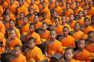 Young Monks Meditating