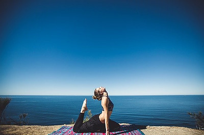 Yoga by the seaside