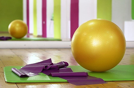Swiss ball and accessories