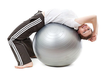 Yoga Exercises with a Swiss Ball